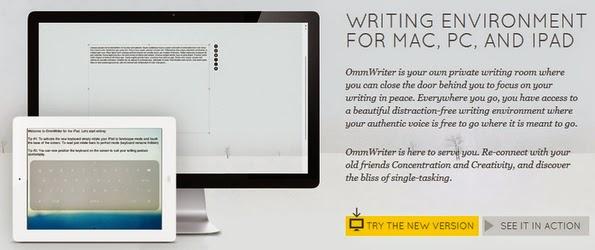 Ommwriter editor mockup