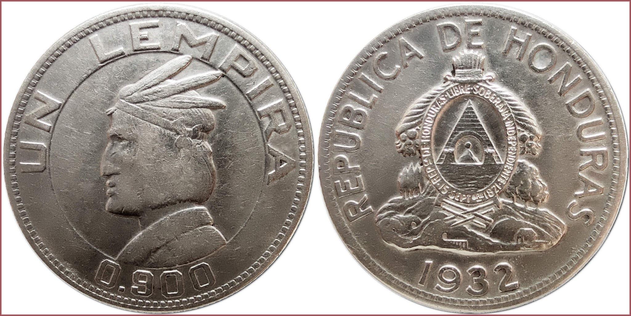 1 lempira, 1932: Republic of Honduras
