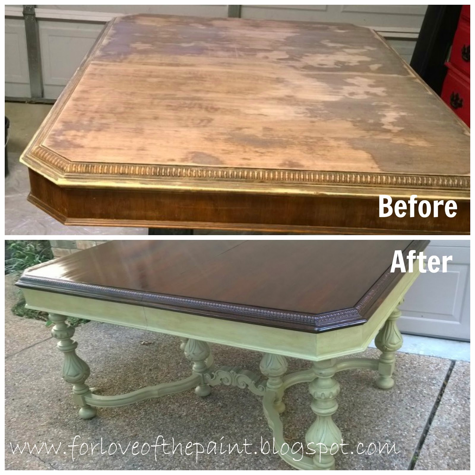 35 Best Images About Refinished Oak Tables On Pinterest: For Love Of The Paint: Before And After : Antique Dining Table