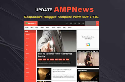 Update! AMPNews Valid AMP HTML Blogger Template