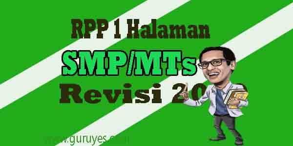 RPP 1 Lembar SKI SMP Kelas 8 Semester 1 Revisi 2020