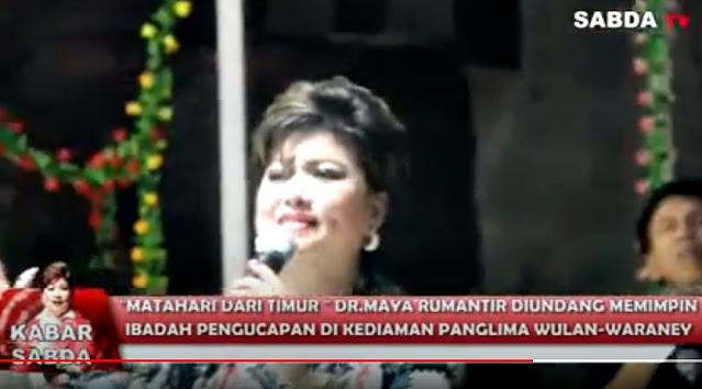 Ormas Adat Waraney Undang Dr Maya Rumantir Pimpin Ibadah Pengucapan Syukur