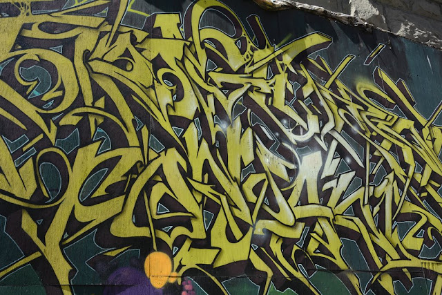 Seattle graffiti yellow abstract