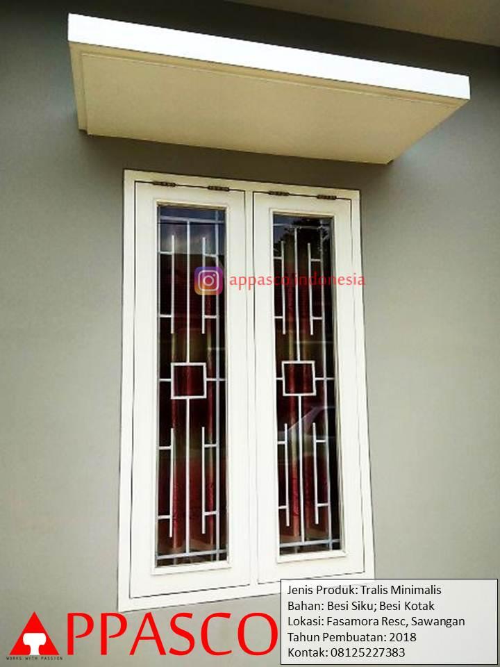 Teralis Jendela Minimalis di Sawangan Fasamora Residence