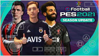 Download PES 2021 PPSSPP New English Commentary Peter Drury Best Real Faces graphics HD & Update Last Transfer