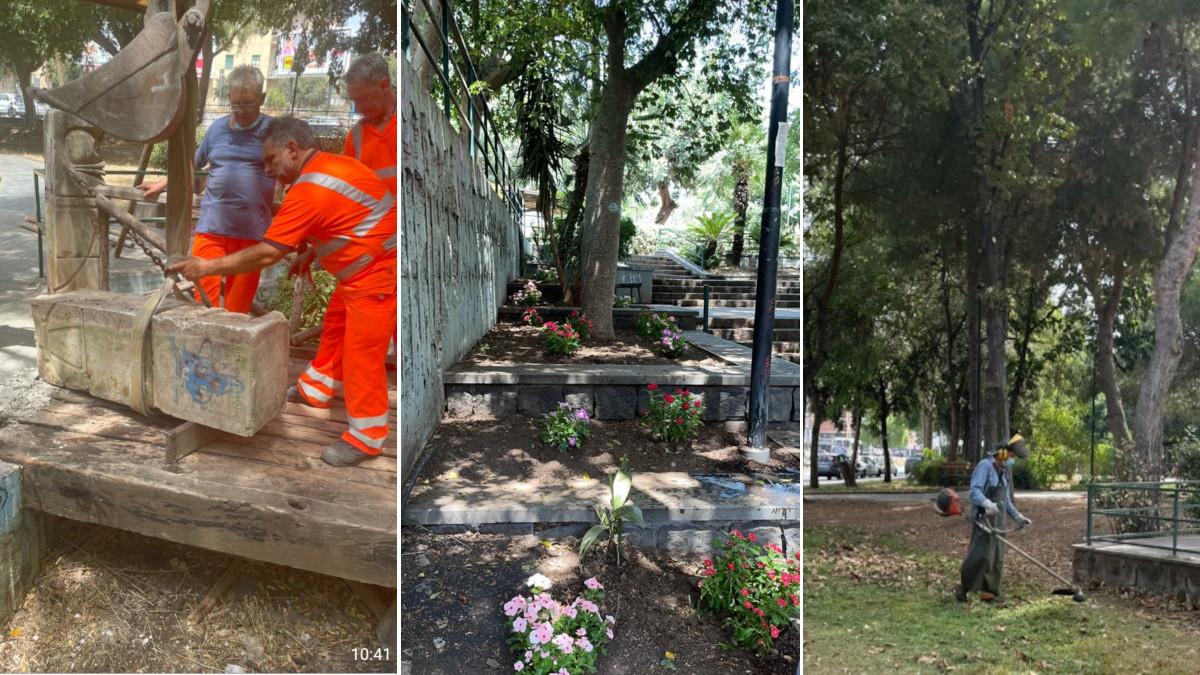 Manutenzione straordinaria Parco Falcone Comune di Catania