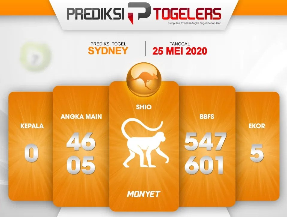 Prediksi Sydney Senin 25 Mei 2020 - Prediksi Togelers