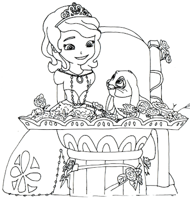 Gambar Mewarnai Putri Sofia - 10