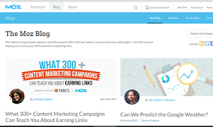 Moz Blog is a marketing blog you can count on!