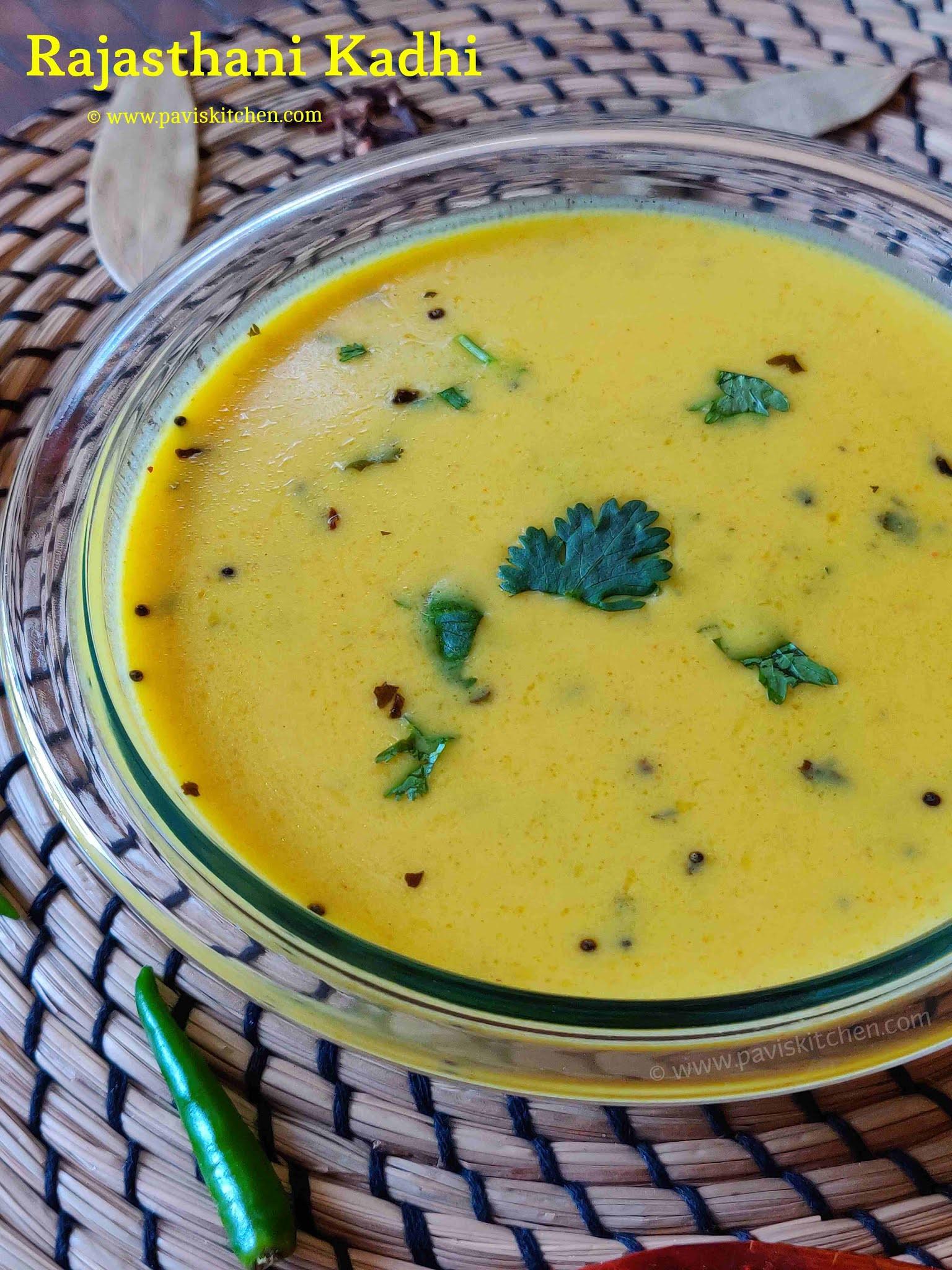 Rajasthani Kadhi Recipe | Marwari Kadhi | Dahi Besan Kadhi