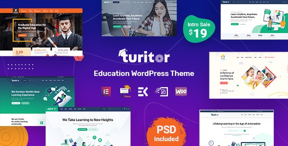 Turitor - Education WordPress Theme Free Download Nulled