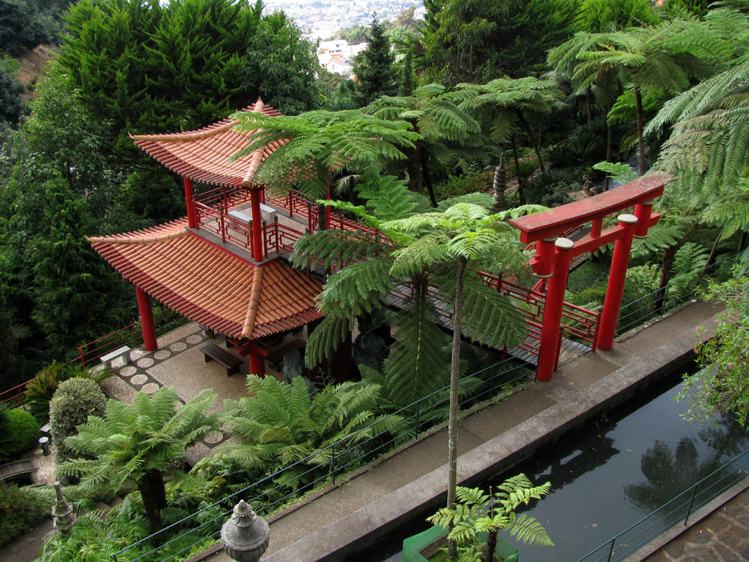 isn't Chinatown but the oriental garden in Monte Palace