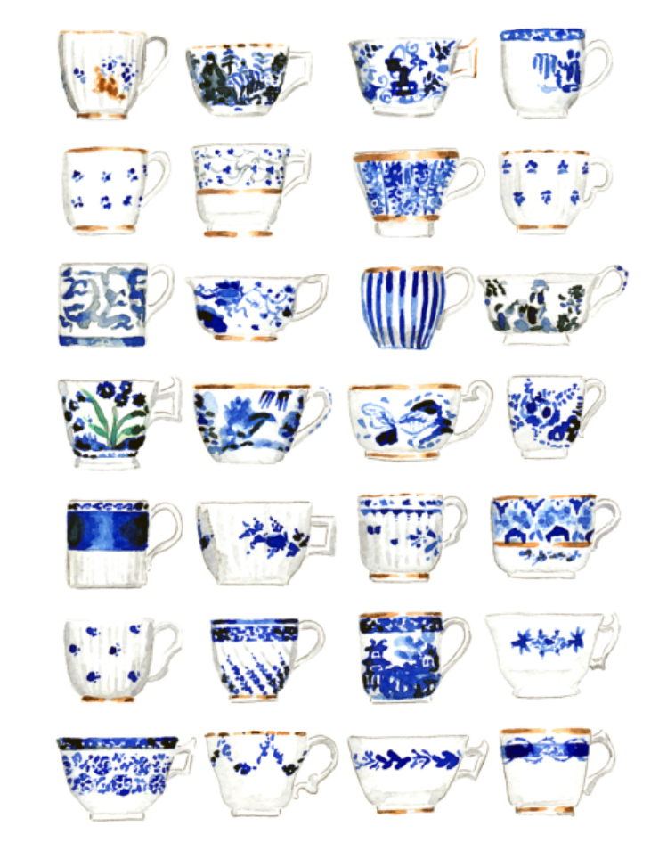 tea cups illustration
