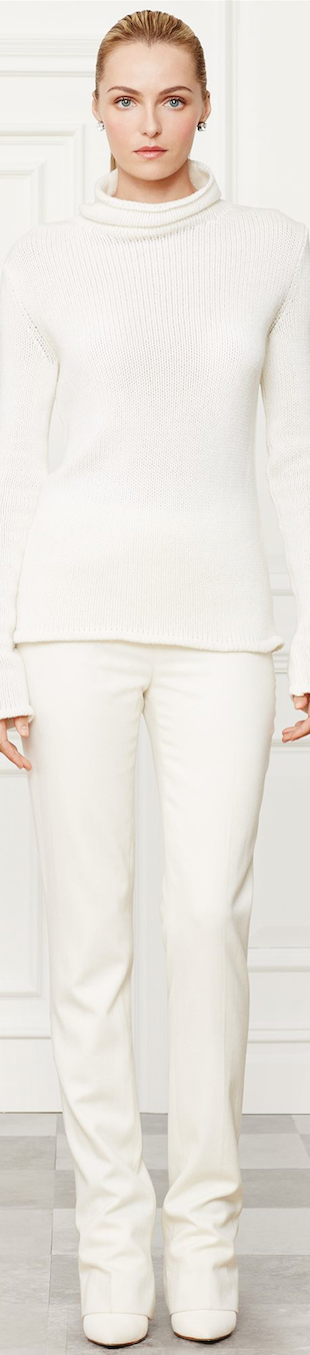 Ralph Lauren Ribbed Funnelneck SweaterFall 2014 Collection