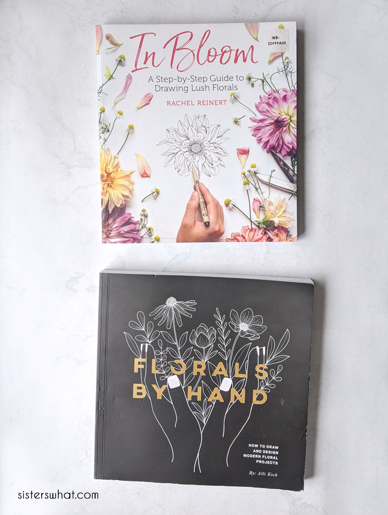 how to draw flower books