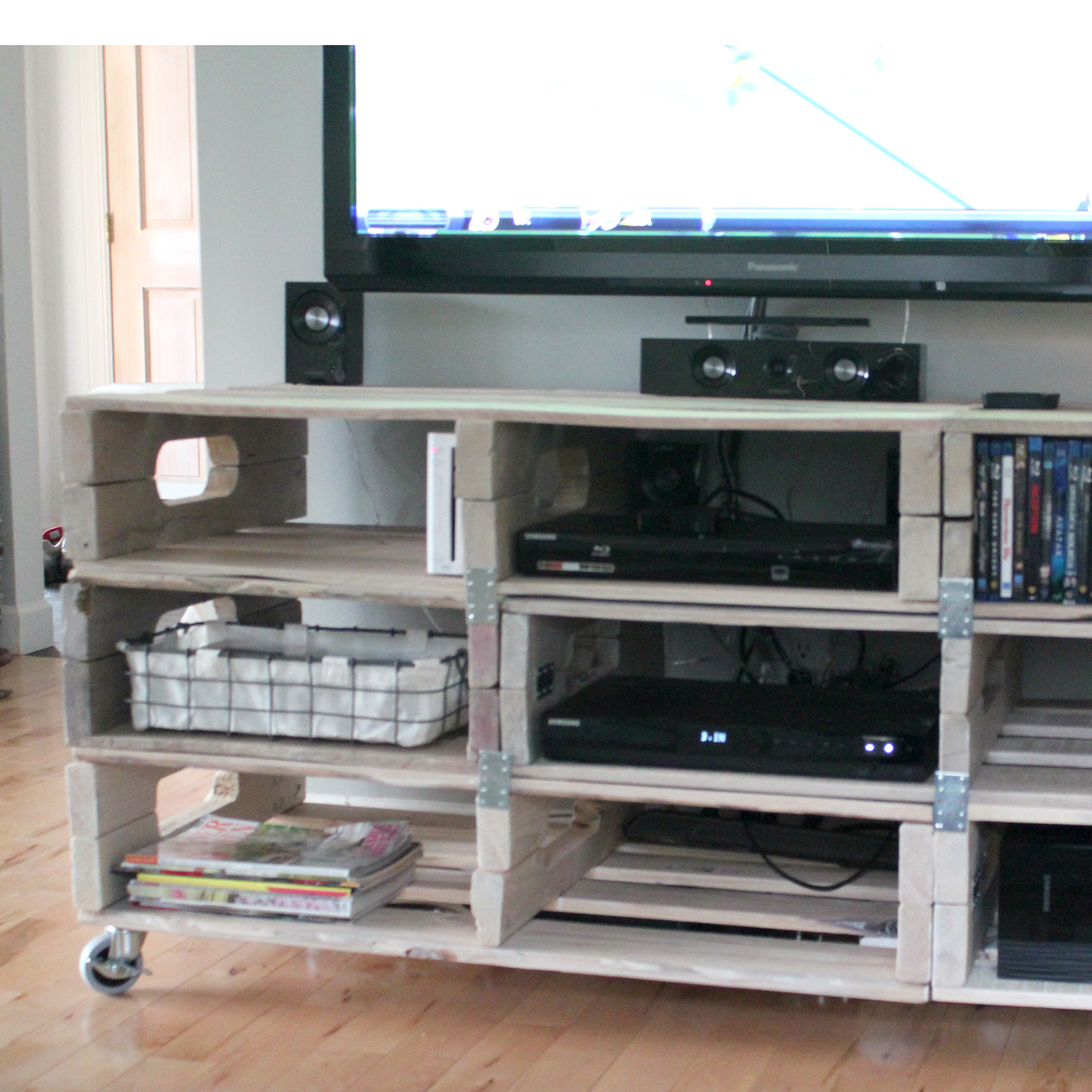 diy pallet entertainment center the forge diy entertainment center from pallets 678
