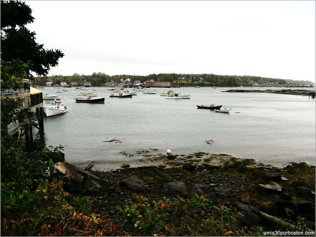 Vistas desde Thurston's Lobster Pound en Maine
