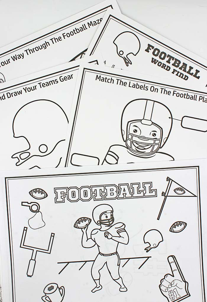 Free Printable Football Coloring Pages Activities For Big Game Fun