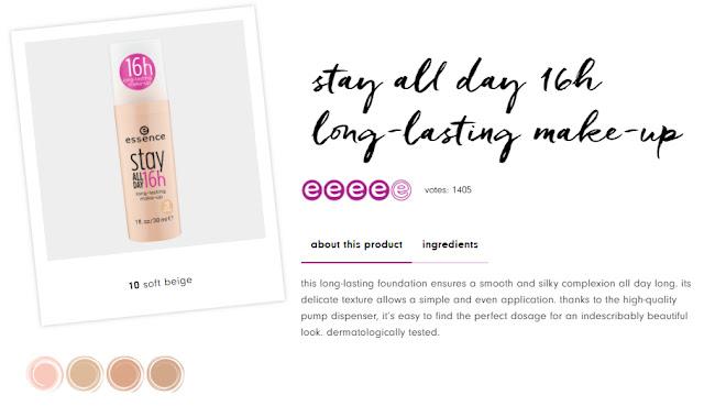 Essense Stay All Day 16h Long Lasting Makeup,harga essense foundation,