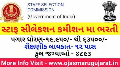 SSC - Staff Selection Commission (CHSL) Recruitment 2020
