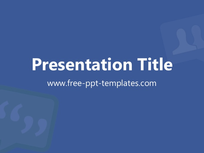 facebook ppt template, Modern powerpoint