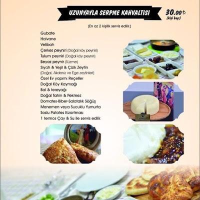 gubate restaurant kayseri kahvalti menu