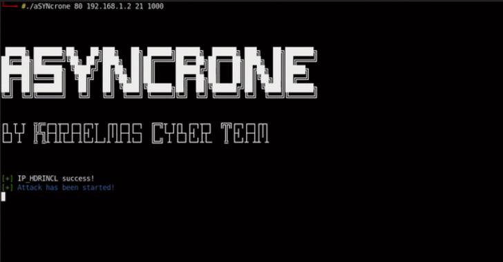 aSYNcrone : Multifunction SYN Flood DDoS Weapon