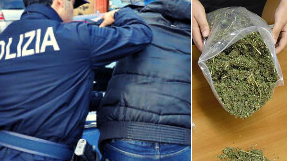 lite in famiglia Polizia di Stato Marijuana Librino