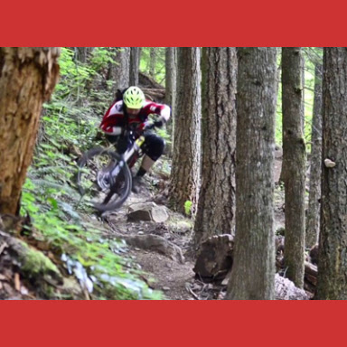 VIDEO of mountain biker on the Sandy Ridge Trail System in Mt. Hood National Forest in Oregon