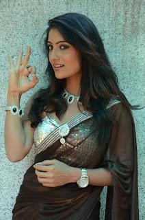 Mamatha Rao in Saree Sleeveless Shoulder less Silver Choli at Mantram Tantram Yantram Opening