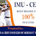 IMU - CET Study Material for 100% success.