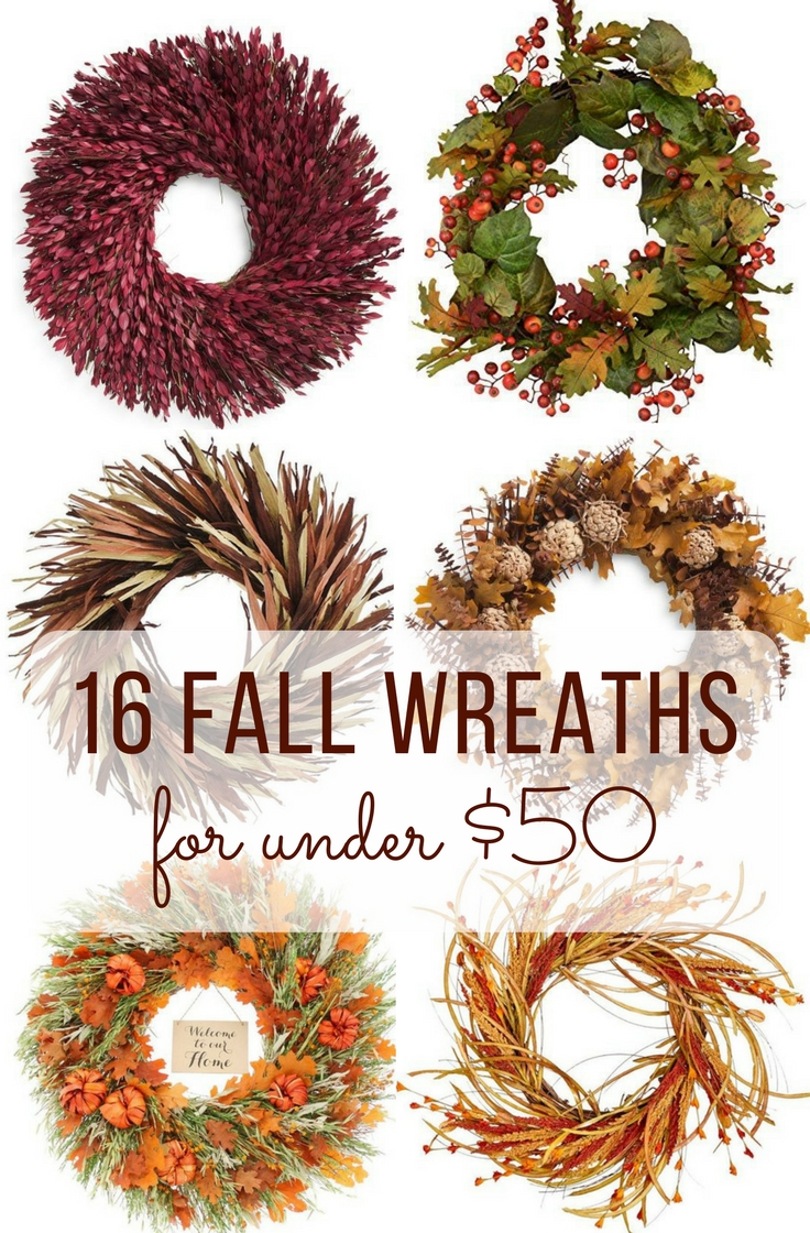inexpensive fall wreath ideas for front door