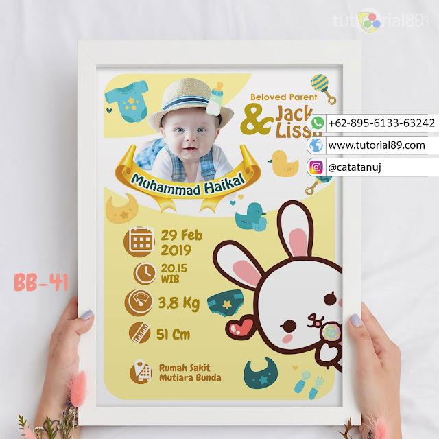 Biodata Bayi Costume Unik Kode BB40 | Kelinci Imut