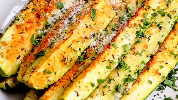 Easy Baked Parmesan Cheese Zucchini Recipe