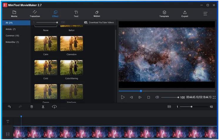 MiniTool MovieMaker Free :   Δημιουργήσετε εκπληκτικά  βίντεο κλιπ από φωτογραφίες και μικρά βίντεο