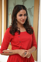 Actress Lavanya Tripathi Latest Pos in Red Dress at Radha Movie Success Meet .COM 0180.JPG