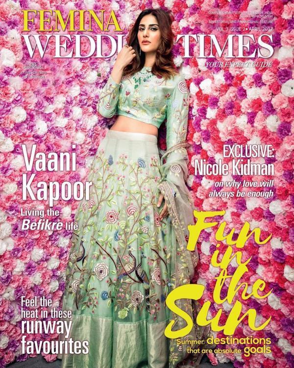Vaani Kapoor in Femina Wedding Times Magazine