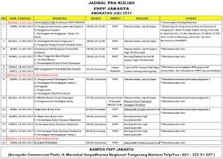 Jadwal PSPP Penerbangan Juni 2017 kampus Jakarta