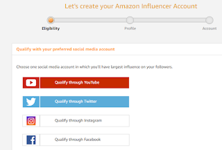 Amazon Influencer Program Registration