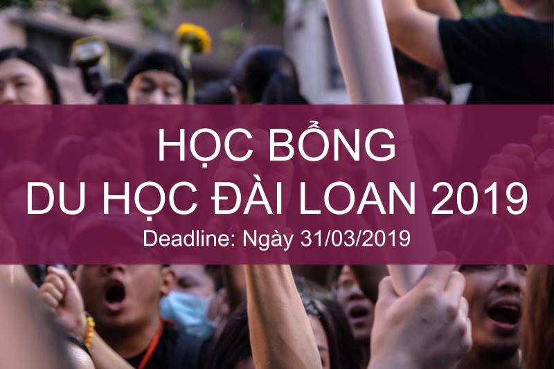 Học bổng du học Đài Loan 2019
