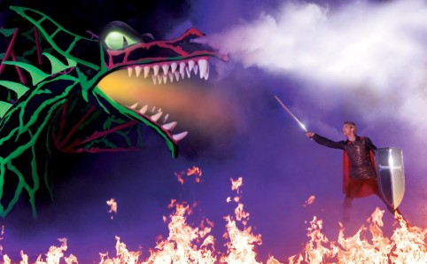 Disney on Ice Tour Prince Philip and Maleficent Fire breathing Dragon