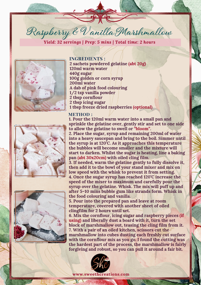 NO 4-RASPBERRY & VANILLA MARSHMALLOWS RECIPE