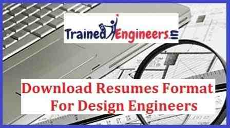 Download Resumes Format For Design Engineers