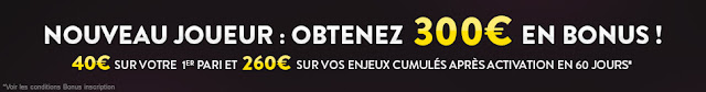 Parier sur Feeling Bet - Bonus 300 € offert sur Feeling Bet