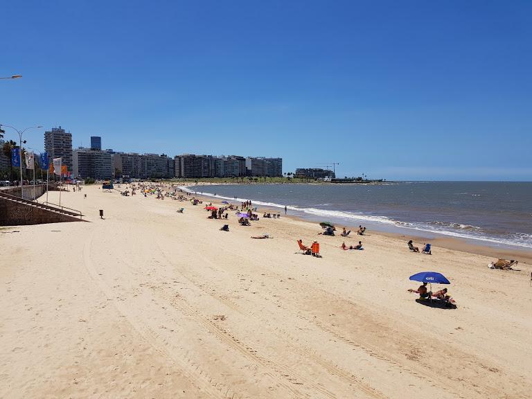 Strand in Montevideo in Uruguay