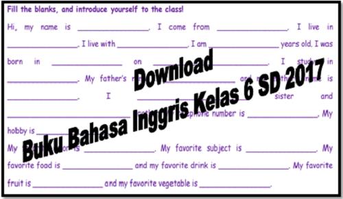 Download Buku Bahasa Inggris Kelas 6 SD 2017