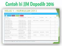 Download Contoh Cara Isi JJM Dapodik 2016 Kurikulum 2013 dan KTSP SD