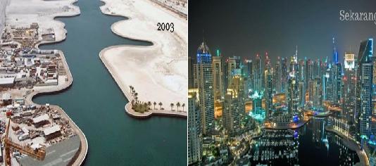 9 Transformasi Dubai Sebelum dan Sesudah Menjadi Kota Modern