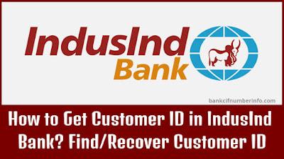 Get IndusInd Bank Customer ID