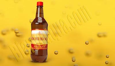 Bia hơi Hà Nội chai 1L
